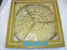 Vintage Anchor Hocking Amber Fairfield Glass Three Divided Serving Plate