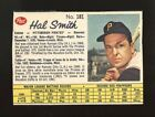 1962 CANADIAN POST CEREAL #181 HAL SMITH KEY SHORT PRINT SP PITTSBURGH PIRATES