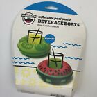 Inflatable Pool Party Beverage Boats Watermelon Like BigMouth New