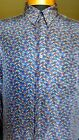 Vintage JHANE BARNES 100 Silk Shirt Colorful Stained Glass Pattern Mint L