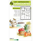 Art Impressions 4111 Watercolor Cling Rubber Stamps 4X7 Containers