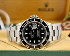 ROLEX Submariner Black Dial 3135 Auto 40mm SS Watch 16610 (BOX and PAPERS!)