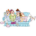 Art Impressions Girlfriends Cling Rubber Stamp 325X275 Comfy On The Couch