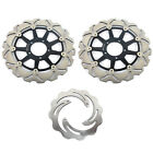 Front Rear Brake Discs Rotors For Ducati 848 EVO 850 998 Monster S4R S Tricolore