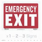 Emergency Exit Sign Door Signs Store Office Shop Safety Redwhite 9x12 Pvc