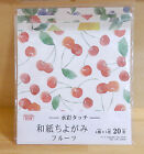 Japanese Origami Folding Craft Paper Chiyogami Cute Watercolor Fruits Design