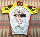 Vintage Cinelli Castelli White Yellow Cycling Jersey Size M L Made In Italy Nice