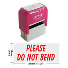 Please Do Not Bend Self Inking Rubber Stamp JYP 4911R 10 RED INK
