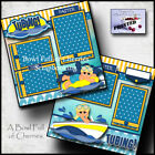 Tubing Boating Summer 2 premade scrapbook pages printed paper piecing By Cherry
