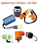 Air Filter Kit Fit GY6 50cc Scooter ATV Moped Go Kart Racing Ignition Coil +CDI