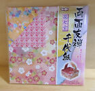 Japanese Origami Folding Paper Yuzen Flower Sippo Chiyogami Double Sided Color