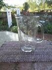 Lg Etched glass Beverage pitcher