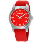 Wenger Field Color Red Dial Silicone Strap Men's Watch 01.0441.142