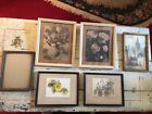 Antique Vintage Wood Picture Frames Mixed Lot of 6 Various Sizes ~ Shabby Chic