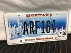 MONTANA LICENSE PLATE WINTER WONDERLAND ARF164