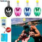 Swimming Full Face Anti Fog Snorkel Mask Surface Diving Snorkelling for GoPro US