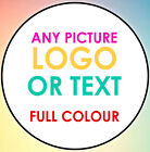 500 LOGO Printed Round Stickers - Custom labels - postage labels - Personalised