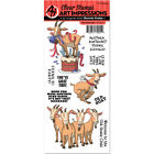 Art Impressions AICS37 Funny Farm Cling Rubber Stamp Old Goat