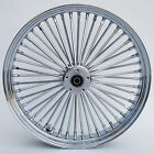 Chrome Ultima 48 King Spoke 21 x 35 Front Dual Disc Wheel for Harley Models