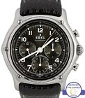 Men's Ebel 1911 Chronograph 40mm Black Automatic Stainless Steel 9137240 Watch