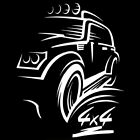 4x4 Off-road For Jeep Niva Car Sticker Auto Removable Vinyl Decal Line Drawing