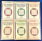 James Joyce Ulysses 1st USA print Two Worlds Monthly All 11 vols 1927 NF