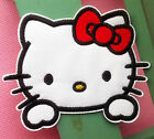 Cute Hello Kitty Embroidered Iron On Sew On Patch
