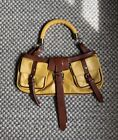 Burberry Prorsum Leather Saddle Baguette Bag