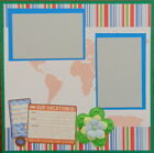 12X12 OUR VACATION TRAVEL PREMADE SCRAPBOOK PAGE LAYOUT MSND TONYA