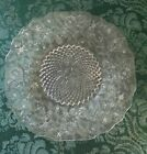 Vintage Indiana Clear Glass Plate - Pineapple and Floral Pattern