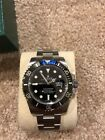 Rolex Submariner Date Stainless Steel Watch Black Dial Bezel Mens Sub 16610 LN