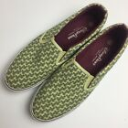 Disney Parks Mens 9 Shoes Mickey Mouse Print Sneaker Slip On Tennis Green