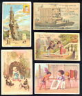 1890S VICTORIAN TRADE CARDS LARGE LOT OF 15 DIFFERENT LIEBIG ANIMALS CHILDREN