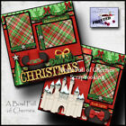 Disney Christmas 2 premade scrapbook pages parade layout paper piecing By Cherry