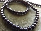 BEADS BLACK GLASS ROUND 3 4 MM 16 INCH STRANDS