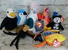 TY Beanie Baby Lot Includes 9 Strut, Buzzy, Spinner, Jake, Baldy, Boneses
