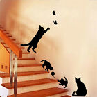 Cute Cats Flower Vase Wall Stickers Home Room Art Paper Decal Mural Sticker Glee