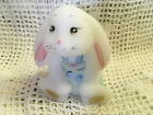 Fenton Glass Bunny Hand Painted Signed Opal Last One