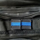 2Pcs 1 Square Mini Thin Blue Line Retired Tactical Embroider Hook Patch Badge