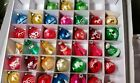 Lot Of 38 Vintage Stenciled Glass Christmas Ornaments