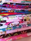 Large Mixed Lot of Cotton Flannel Fabric 11+ yds Girls Pink Ice Cream