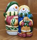 Snowman couple salt and pepper shakers