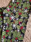 Lularoe TC2 Leggings Chrismas Mistletoe & Snowfalkes !!