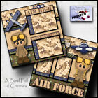 AIR FORCE 2 premade scrapbook pages layout paper piecing veteran military Cherry