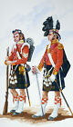 ORIG. MILITARY WATERCOLOUR PAINTING - OFF. ARGYLL & SUTHERLAND HIGHLANDERS 1854