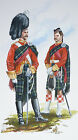 ORIG MILITARY WATERCOLOUR PAINTING SCOTTISH 79TH CAMERON HIGHLANDERS 1865