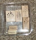 Stampin Up Rubber Stamps Set Flowers Thanks so Much Friend to Friend NEW