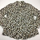 Womens Chicos Animal Print Button Down Shirt Size 2