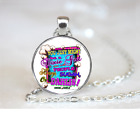 Might Be A Dixie Girl PENDANT NECKLACE Chain Glass Tibet Silver Jewellery