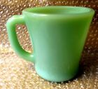 Vtg FIRE KING GREEN JADEITE JADITE Coffee Cup MUG D Handle OVEN WARE